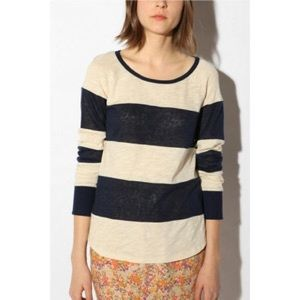 Striped Linen Rugby Pullover